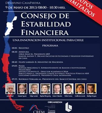 """CREM y ABIF organizan Desayuno sobre """"Consejo De Estabilidad Financiera"""